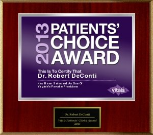 DeConti Patient Choice Award 2013