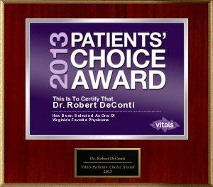 DeConti Patient Choice Award 2013