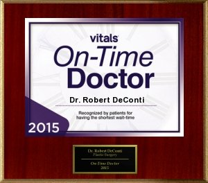 2015 DeConti Vitals On-Time Doctor Award