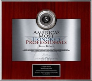 America's Most Honored Professionals DeConti Plastic Surgery